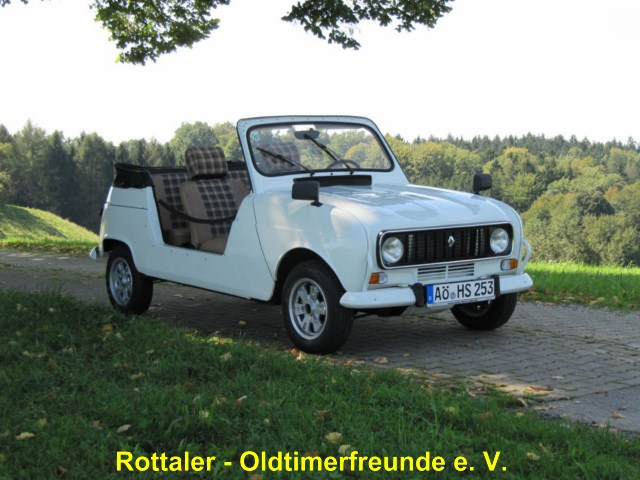 Restauration R4 Cabriolet
